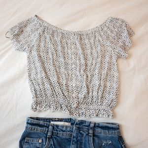 H&M Off the Shoulder Crop Top - Size XS - NWT